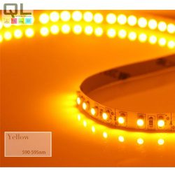 LED SZALAG SÁRGA 4,8W/m 12V 3528 Chip 60LED/m IP20 (LLSZ352860LYEL)