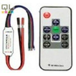 vezérlő LED RGB szalaghoz rádiófrekvenciás 12V 72W mini, vezetékközi LLSZVRADIO72WMINI