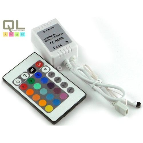 LED szalag vezérlő, infrás távirányítóval LLSZV72W24K     !!! kifutott termék, már nem rendelhető !!!