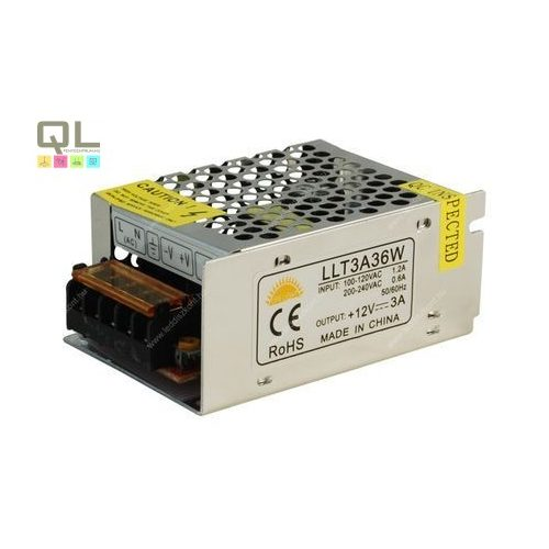 tápegység IP20 12V 36W LLT3A36WF     !!! kifutott termék, már nem rendelhető !!!