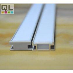 LED profil fedlap HR profilhoz, opál TPHR