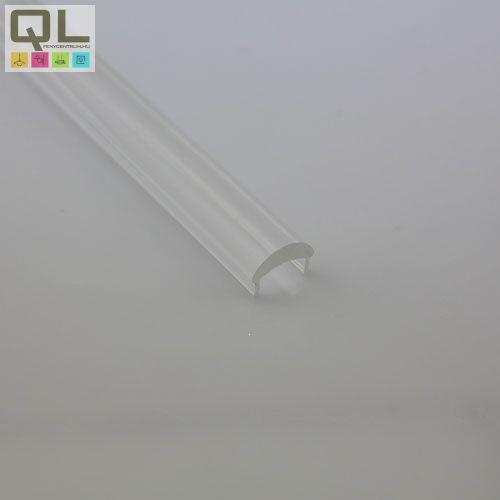 LED profil fedlap SU/GR/CO/UN profilhoz, víztiszta TPSIL