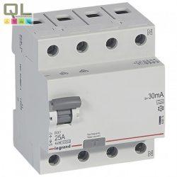 LEGRAND áram-védőkapcs 4P25A30mA A RX3 FI-relé 402074