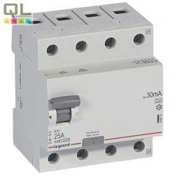 LEGRAND áram-védőkapcsoló 4P25A30mA A RX3 FI-relé 402074
