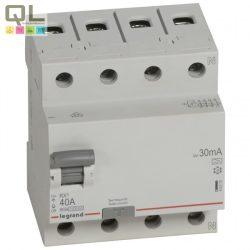 LEGRAND áram-védőkapcsoló 4P40A30mA A RX3 FI-relé 402075
