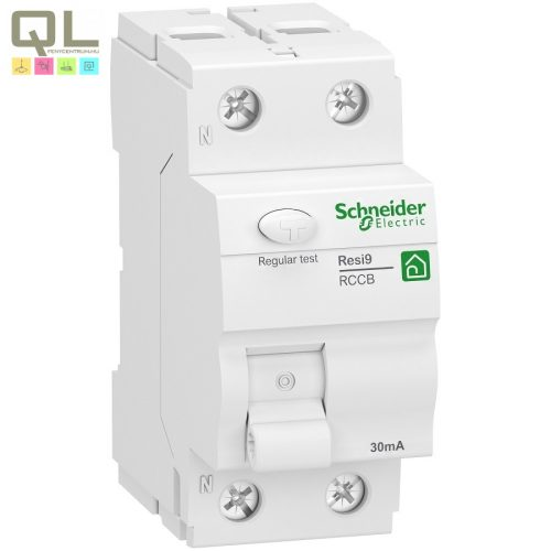 SCHNEIDER áram-védőkapcsoló 2P 25A 30mA A R9 FI-Relé R9R02225
