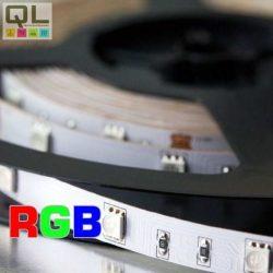 LED SZALAG RGB SZÍNES 4,8W/m 12V DC 5050 Chip 30LED/m IP20 2124