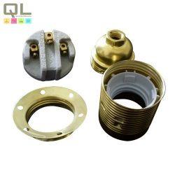 foglalat fém burkolat E27/2db szorító gyürűvel gyűrűvel 0706H