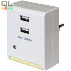 irányfény LED 2xUSB töltővel 7311H