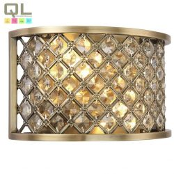 HUDSON fali lámpa 2x40W E14 bronz kristály HUDSON-2LT/BR