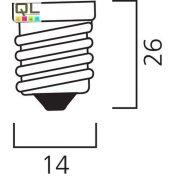 40W csőbúrás izzó E14 0007360 -  - Megszünt, nem rendelhető