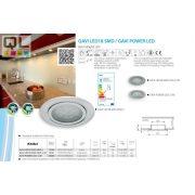 Kanlux süllyesztett lámpa GAVI LED18 SMD-WW-C/M