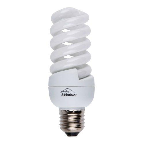 1725 - E27 20W 1152lm spiral  kompakt fénycső 10000h  2700K      !!! kifutott termék, már nem rendelhető !!!