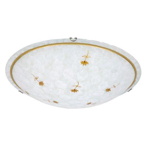 Rábalux Art flower, mennyezeti lámpa, D40, kézzel festett díszítés 1953      !!! kifutott termék, már nem rendelhető !!!