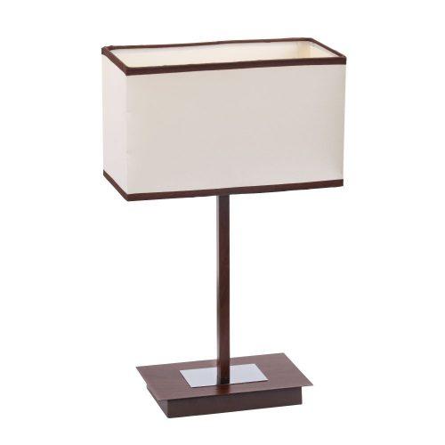 2896 - Kubu wenge asztali lámpa E14 1x40W bézs,barna szeg. !!! kifutott termék, már nem rendelhető !!!