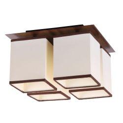 2897 - Kubu wenge mennyezeti lámpa E14 4x40W bézs,barna szeg.
