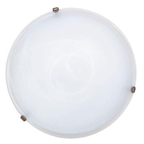 Rábalux fali lámpa 3739 - Alabastro 50x50cm mennyezeti lámpa, bronz lemezfüllel      !!! kifutott termék, már nem rendelhető !!!