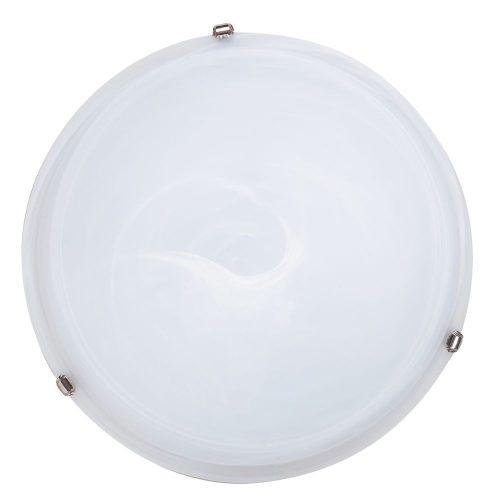Rábalux fali lámpa 3759 - Alabastro 50x50cm mennyezeti lámpa, króm lemezfüllel      !!! kifutott termék, már nem rendelhető !!!