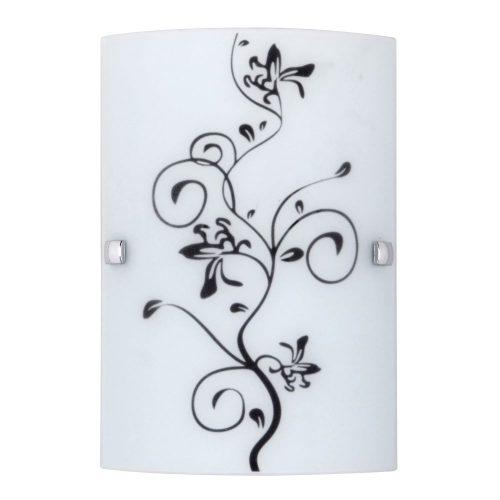 3891 - Blossom 18x26cm fali lampa krom diszcsavar E27 60W !!! kifutott termék, már nem rendelhető !!!