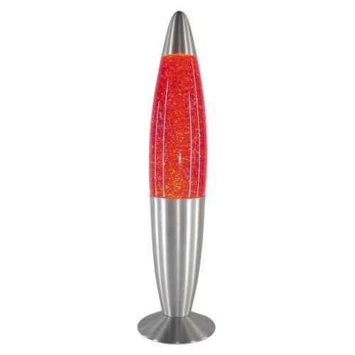 4116 - Glitter mini lávalámpa, csillám lapocskákkal