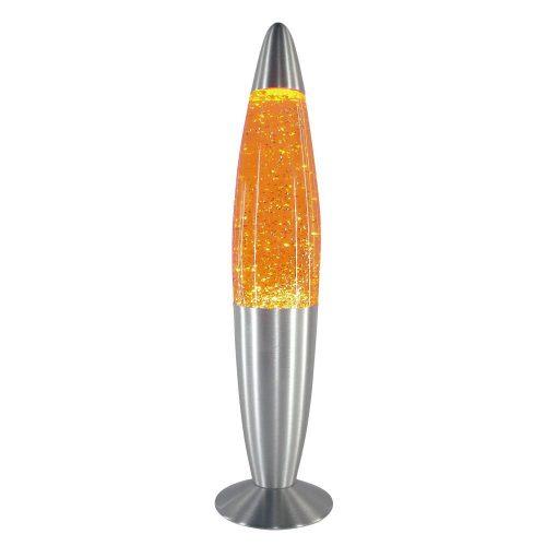 4118 - Glitter mini lávalámpa, H35cm csillám lapocskákkal