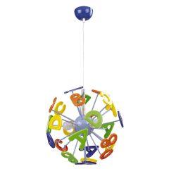Rábalux gyermeklámpa 4716 - ABC, függeszték, D40cm