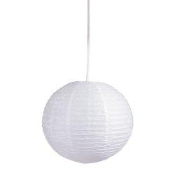 4894 - Rice rizspapír lámpaernyő fehér D30cm
