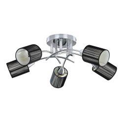 6002 - Veda Menny.lámpa, E14 5x9W króm, fekete
