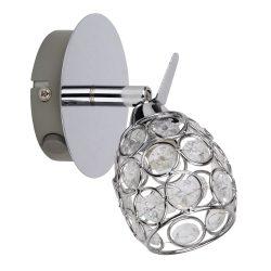 Rábalux fali lámpa kapcsolóval 6106 - Elle, 1-es spot, G9 28W, króm
