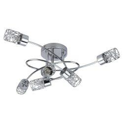 6400 - Joy, mennyezeti lámpa, 6kar, G9 6x28W króm