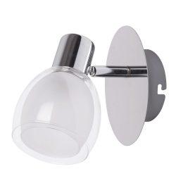 Rábalux fali lámpa kapcsolóval 6835 - Dave spot 1-es E14 40W króm