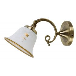 7171 - Art flower, fali lámpa, kézzel festett díszítés