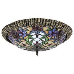 8087 - Mirella, tiffany mennyezeti lámpa, E27 2x60W