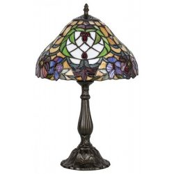 8090 - Mirella, Tiffany asztali lámpa, E27 1x60W