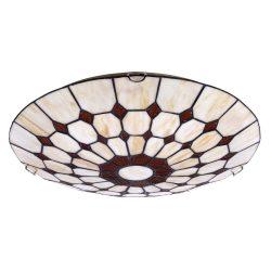 8091 - Marvel, D40cm mennyezeti Tiffany lámpa
