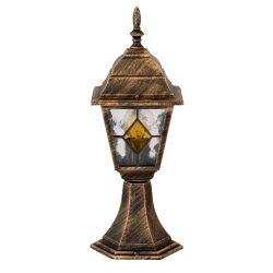 8183 - Monaco, kültéri talpas, tiffany üveggel, H42cm