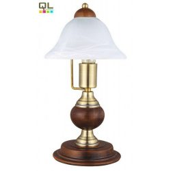 8612 - Odett, asztali lámpa, H36cm, fa betéttel
