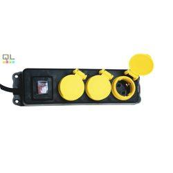 elosztó 3x IP44 NVO03K/BK