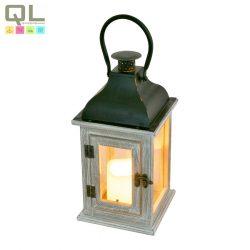 LED-es lámpa, 3xAA elem, (nem tartozék), 140x140x295mm, fa/fekete LTN7