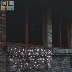 fényfüggöny (jégcsap) 200 LED, hideg fehér, fekete vezeték, sorolható 4x0,7m IP44 KTF200CWH