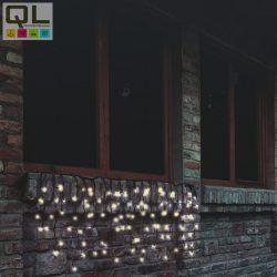 fényfüggöny (jégcsap) 200 LED, meleg fehér, fekete vezeték, sorolható 4x0,7m IP44 KTF200CWW