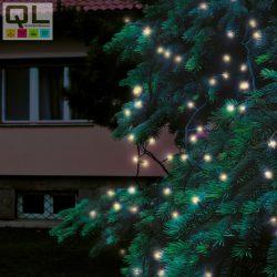 füzér 200 LED, meleg fehér, zöld vezeték, bel/kültéri 20m IP44 KTI200C/WW