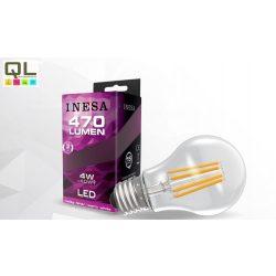 LED 4W körte alakú Filament meleg fehér E27 470lm 60276