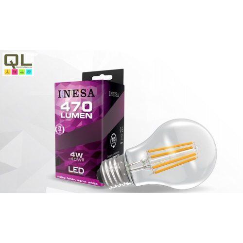 INESA LED 4W körte alakú Filament meleg fehér E27 470lm 60276 - kifutott