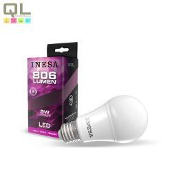 INESA LED E27 körte izzó 3000K 9W 180° 60604