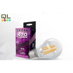 LED 4W körte alakú Filament meleg fehér E27 470lm 60615