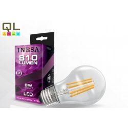 INESA LED izzó 6W körte alakú Filament meleg fehér E27 810lm 60617