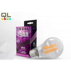 LED izzó 8W körte alakú Filament meleg fehér E27 1055lm 60618