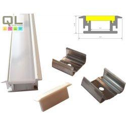 LED PROFIL szett lépésálló süllyeszthető LLLSZASIN1MLEPESSZETT