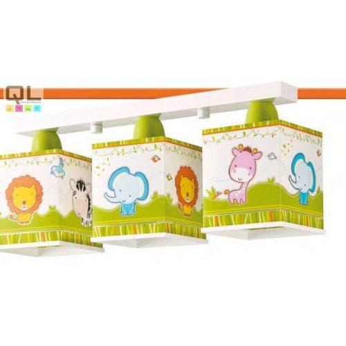 LITTLE ZOO gyermek mennyezeti lámpatest 63113     !!! kifutott termék, már nem rendelhető !!!